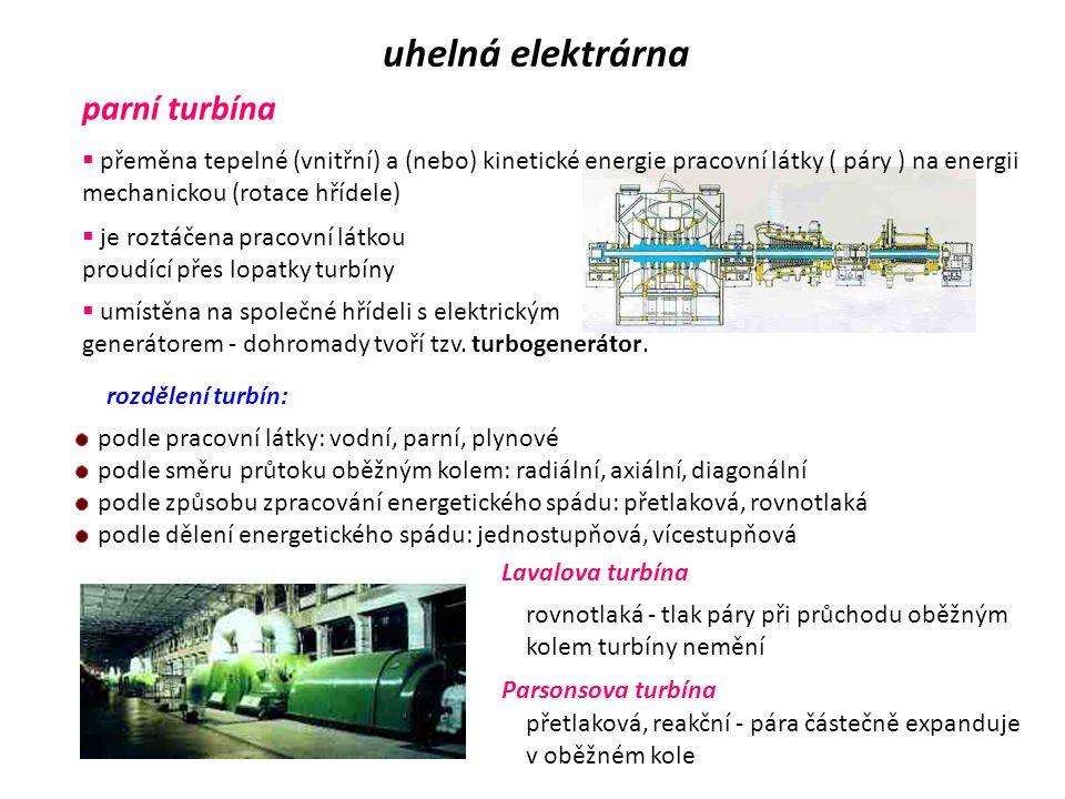 uhelná elektrárna parní turbína