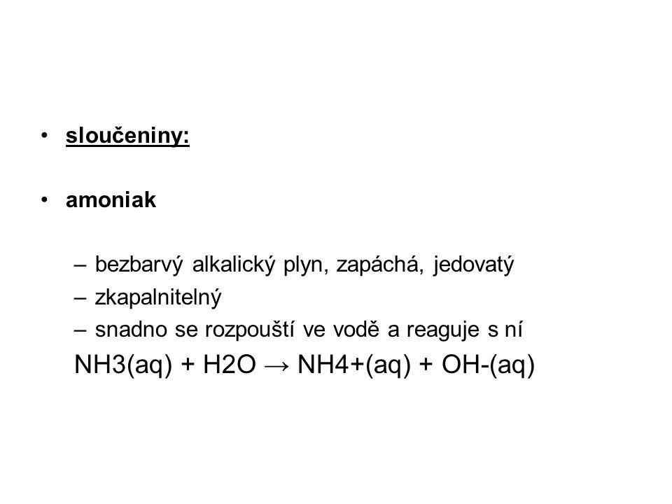 NH3(aq) + H2O → NH4+(aq) + OH-(aq)