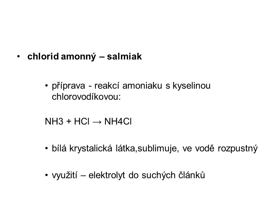 chlorid amonný – salmiak