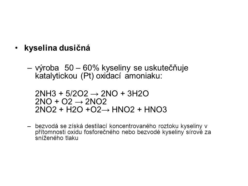 2NH3 + 5/2O2 → 2NO + 3H2O 2NO + O2 → 2NO2 2NO2 + H2O +O2→ HNO2 + HNO3