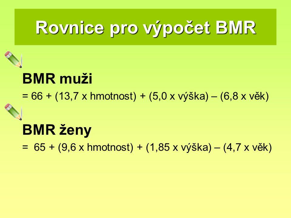 Rovnice pro výpočet BMR