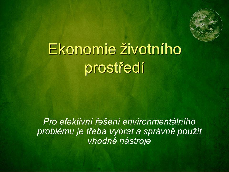 Ekonomie životního prostředí