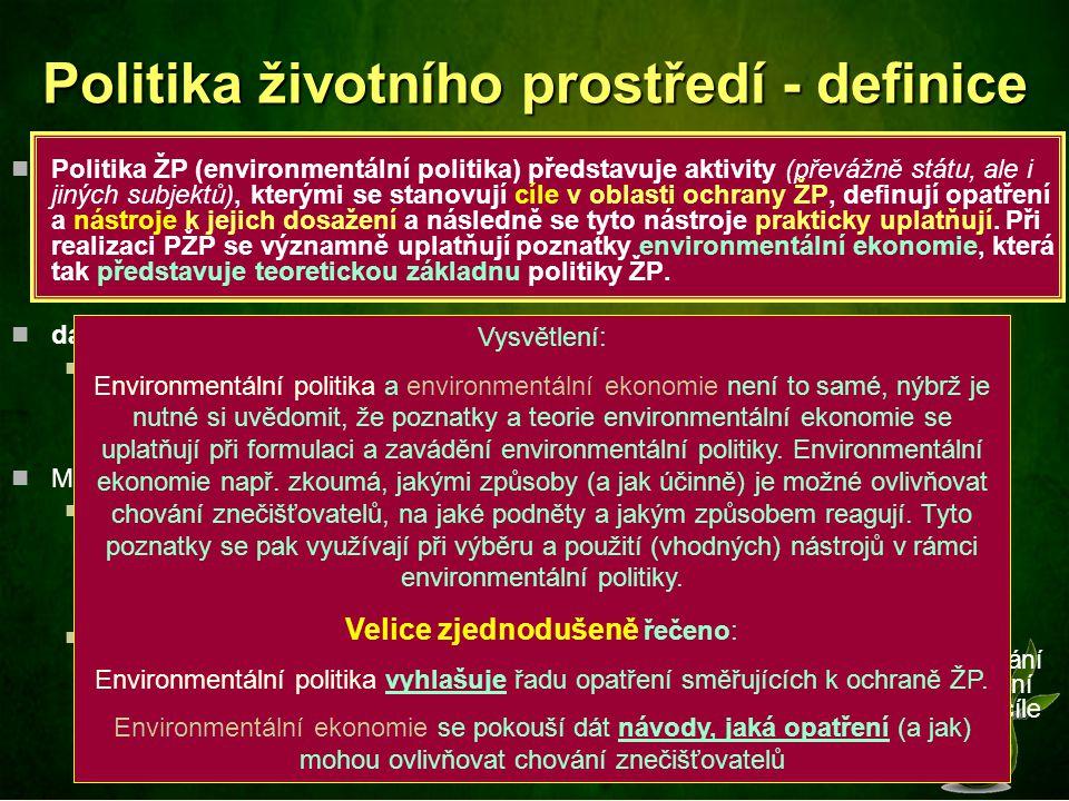 Politika životního prostředí - definice