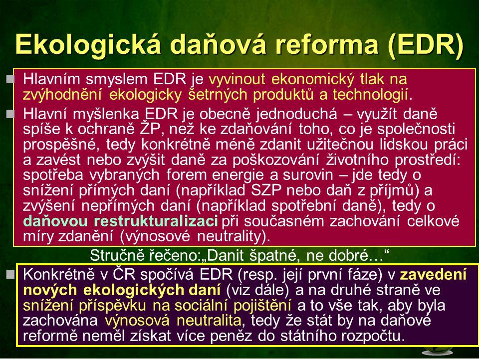 Ekologická daňová reforma (EDR)