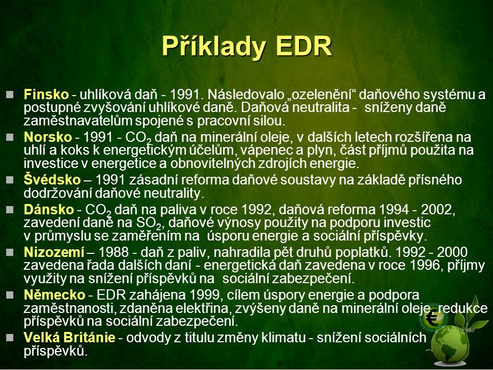 Příklady EDR