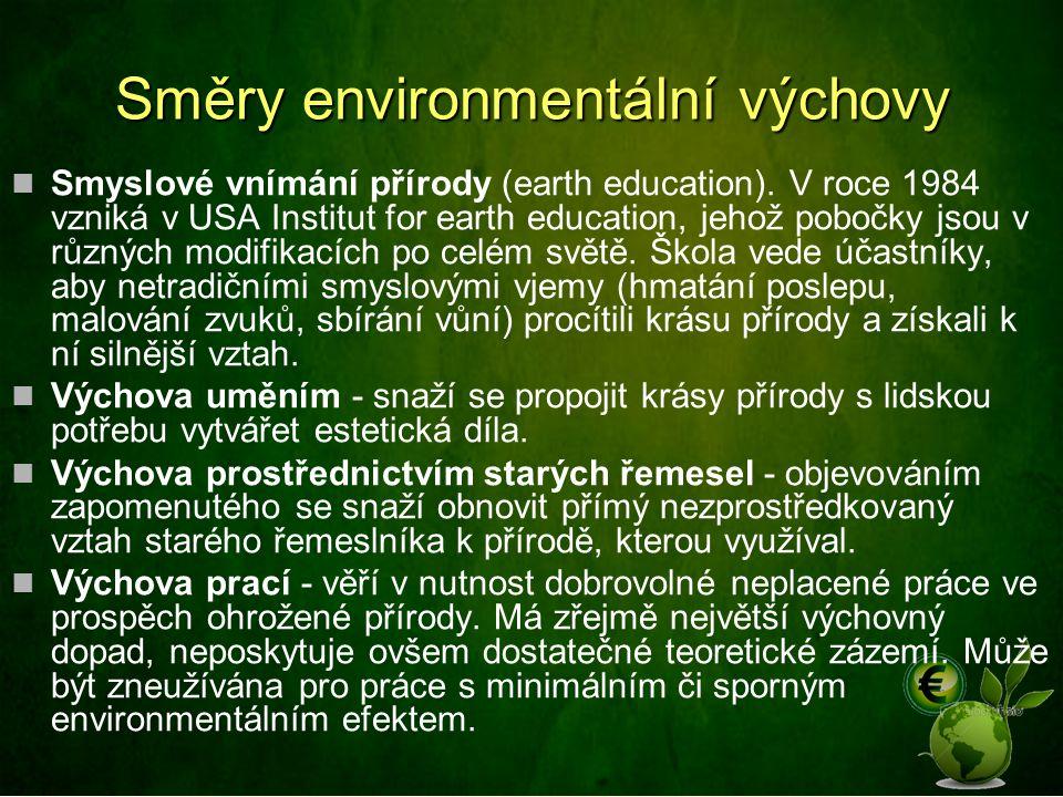 Směry environmentální výchovy