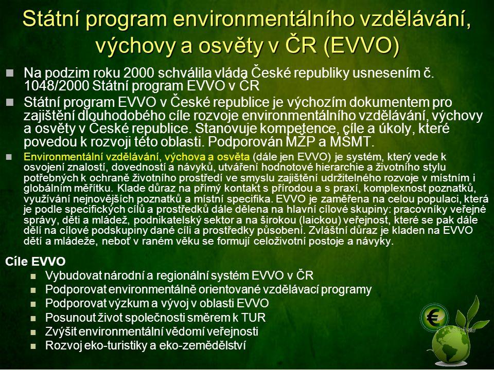 Státní program environmentálního vzdělávání, výchovy a osvěty v ČR (EVVO)