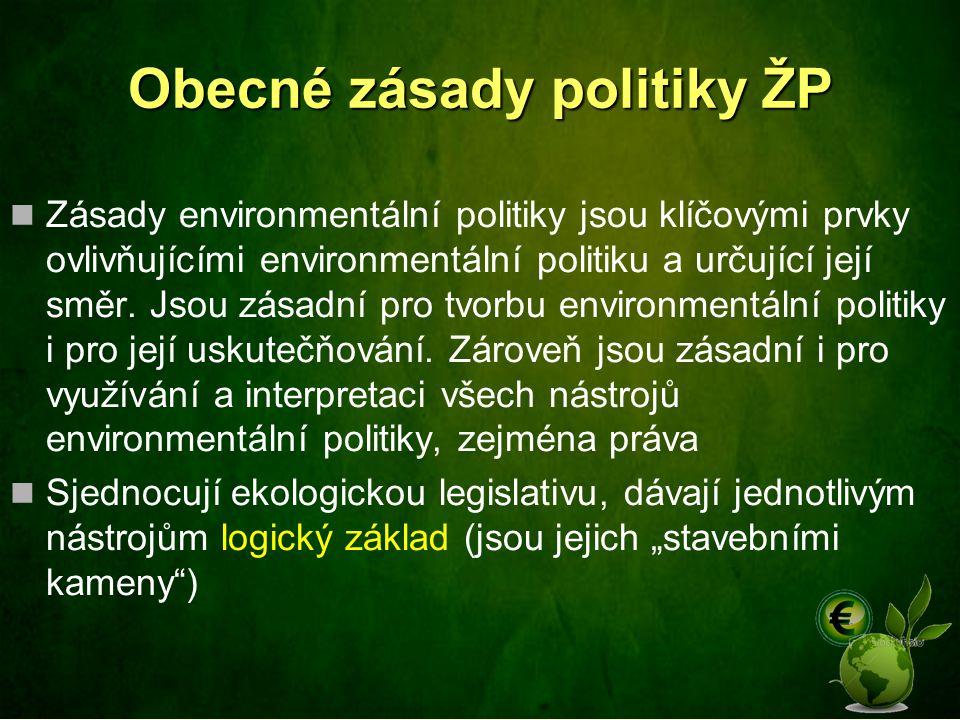 Obecné zásady politiky ŽP