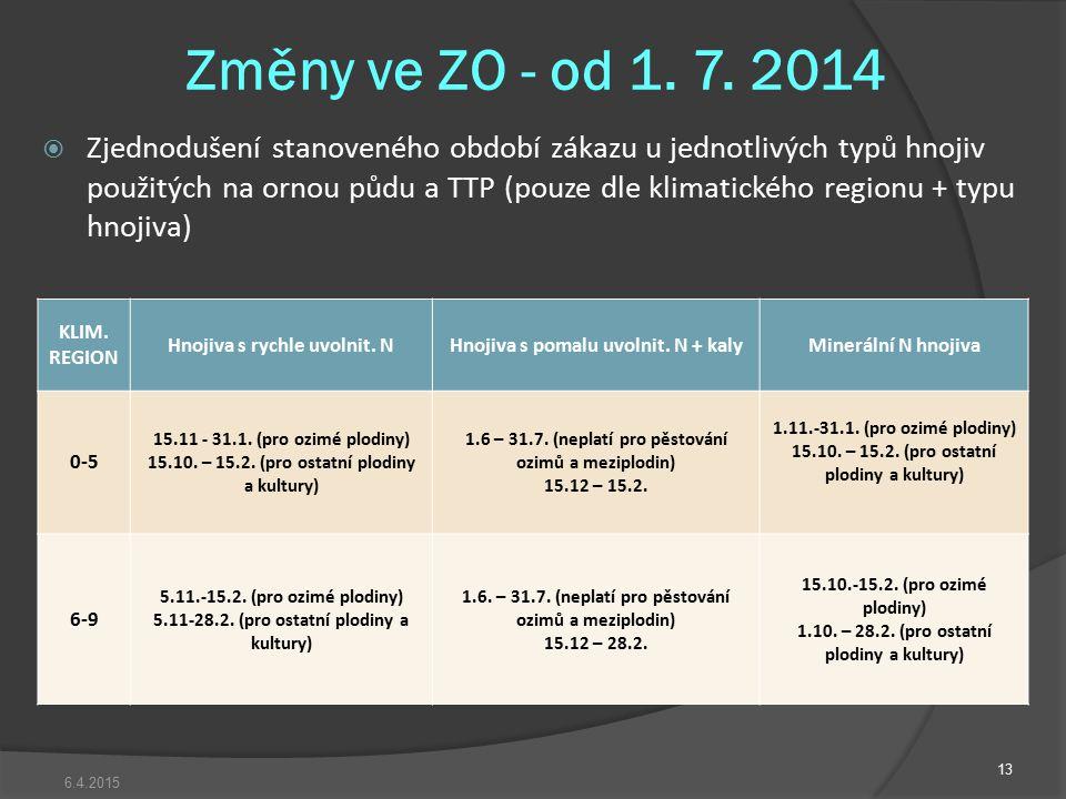 Změny ve ZO - od 1. 7. 2014
