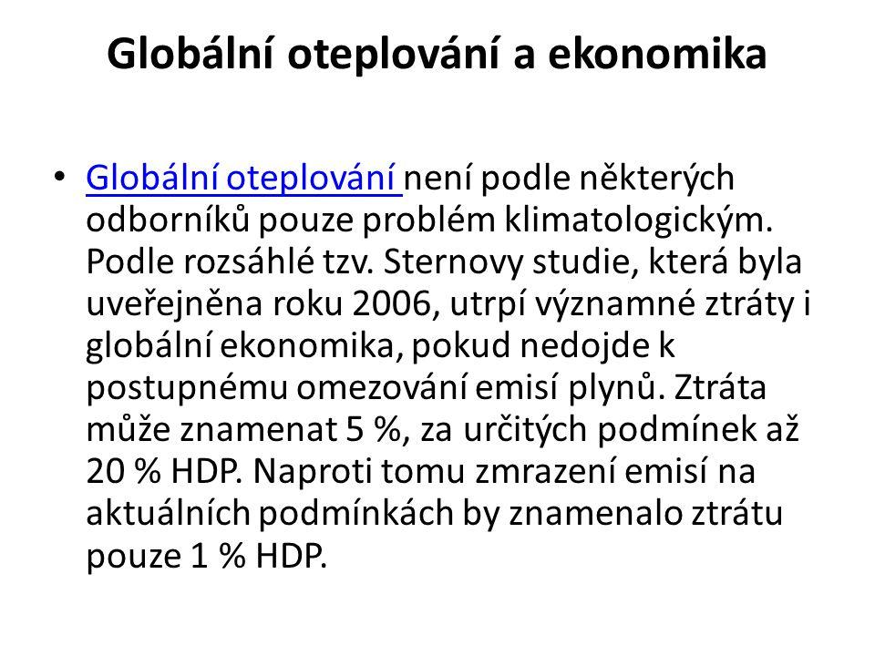 Globální oteplování a ekonomika