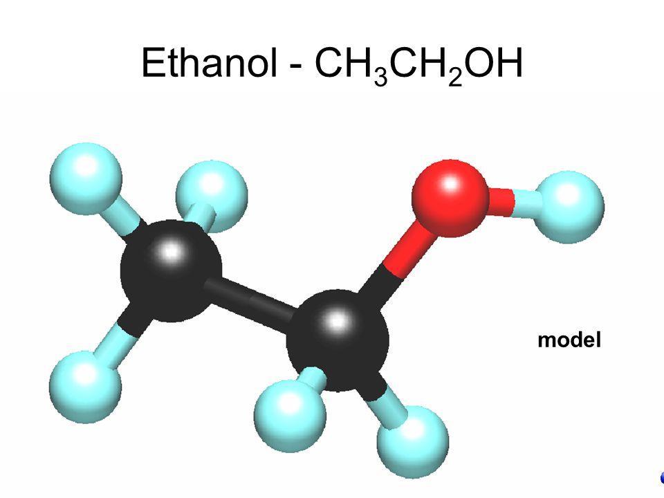 Ethanol - CH3CH2OH model