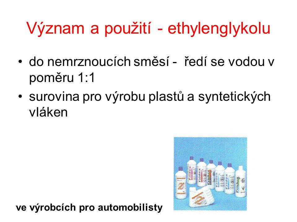 Význam a použití - ethylenglykolu