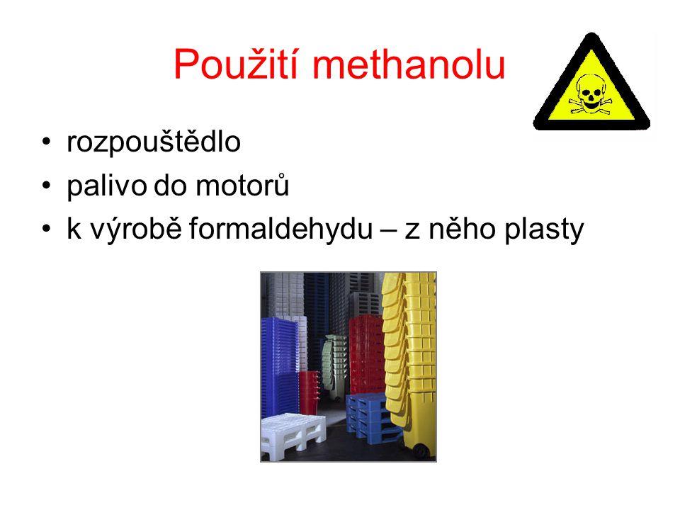 Použití methanolu rozpouštědlo palivo do motorů