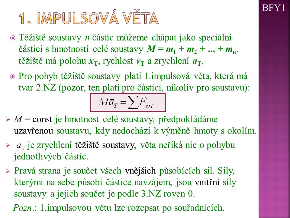 BFY1 1. impulsová věta.