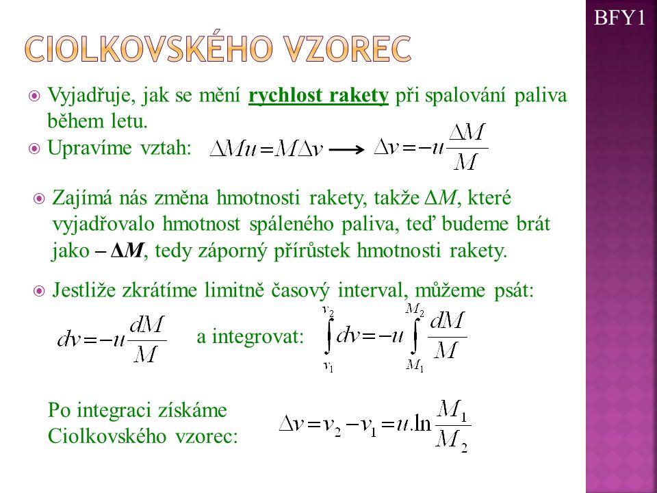 Ciolkovského vzorec BFY1