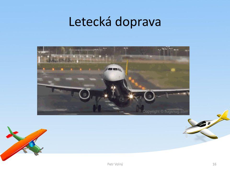 Letecká doprava Petr Volný