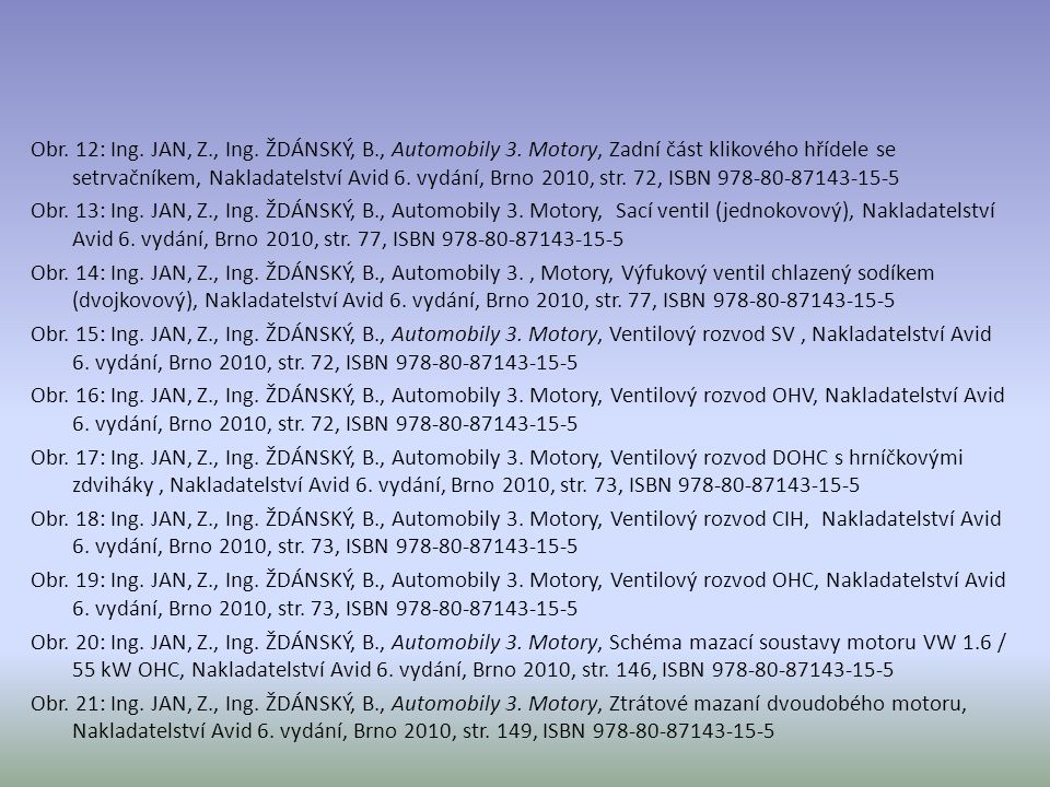 Obr. 12: Ing. JAN, Z. , Ing. ŽDÁNSKÝ, B. , Automobily 3