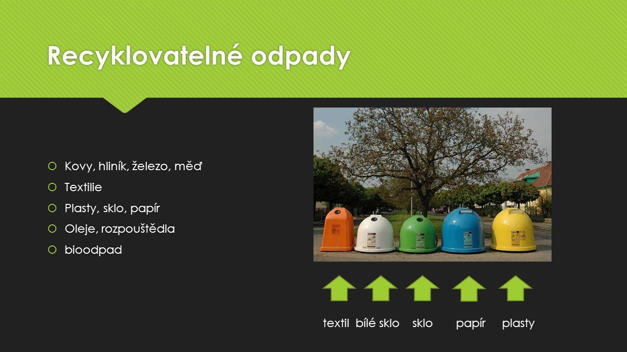 Recyklovatelné odpady
