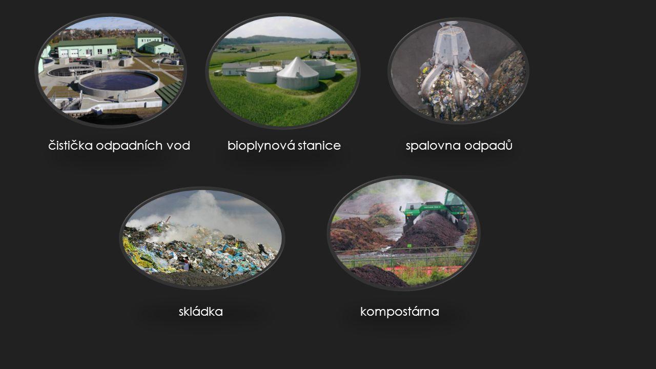 čistička odpadních vod bioplynová stanice spalovna odpadů