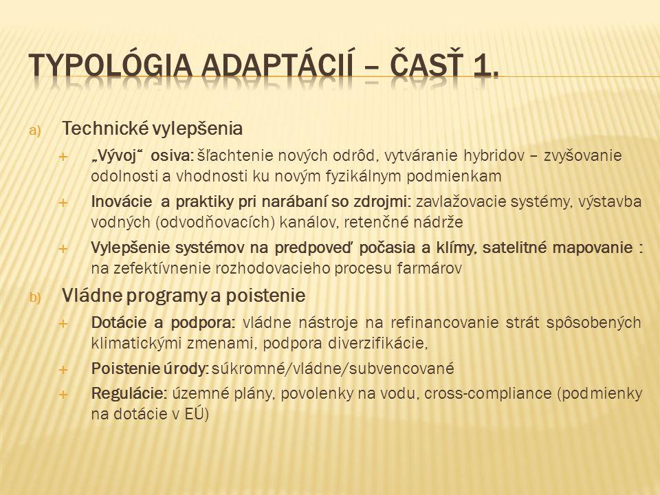 Typológia adaptácií – časť 1.