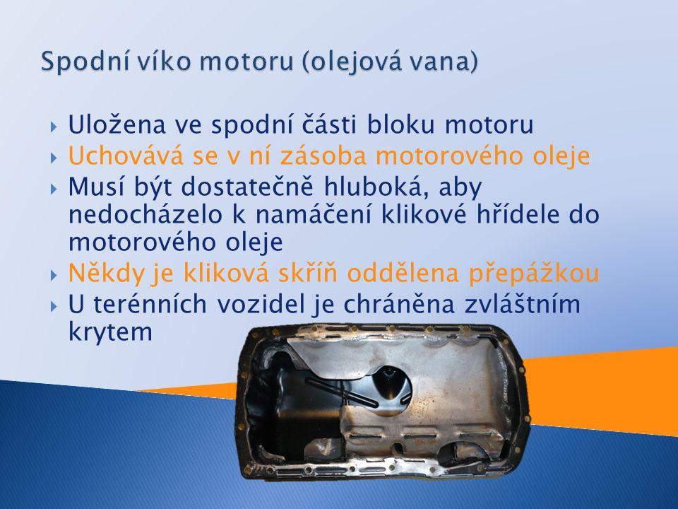 Spodní víko motoru (olejová vana)