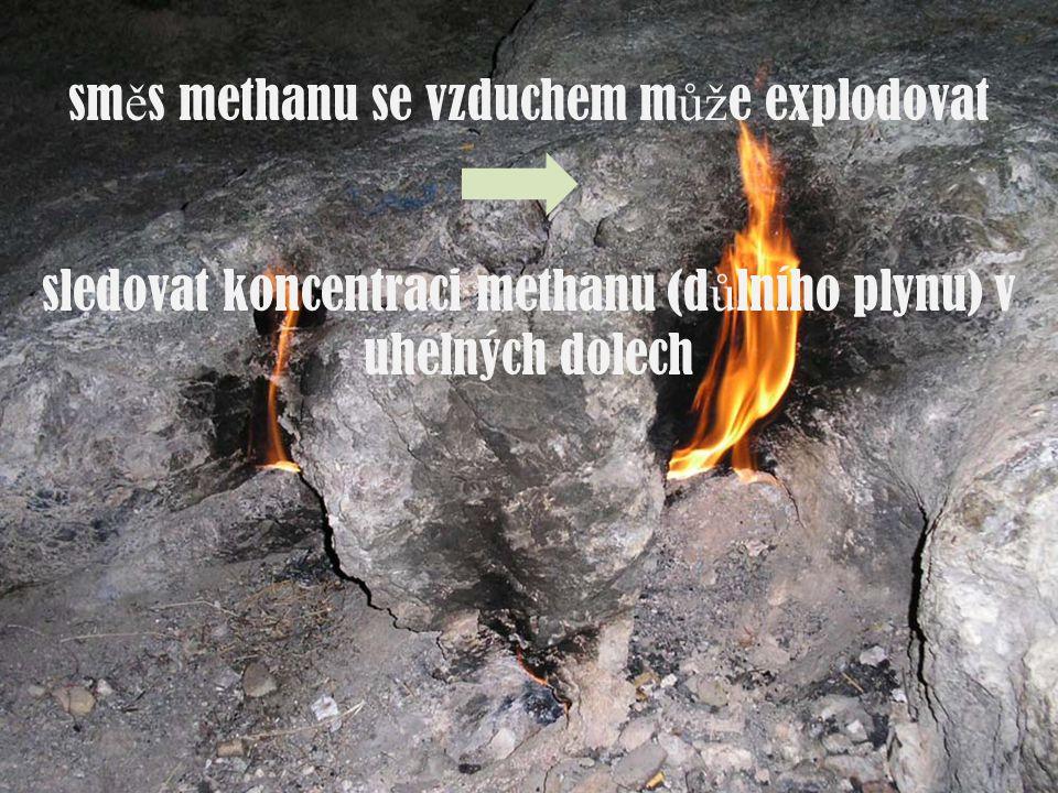 směs methanu se vzduchem může explodovat