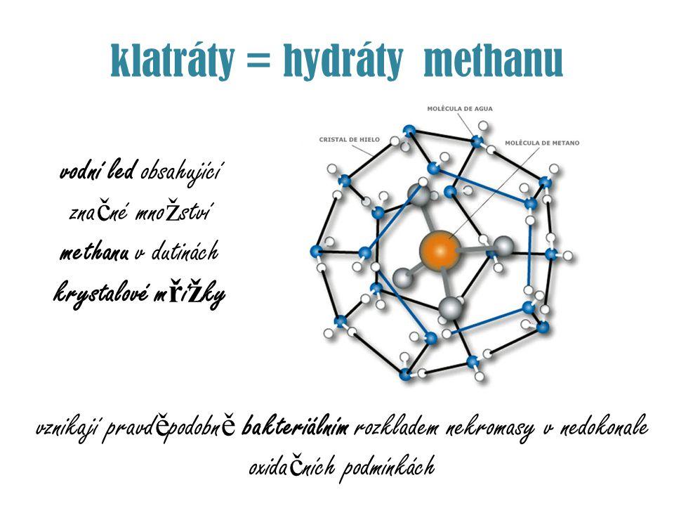 klatráty = hydráty methanu