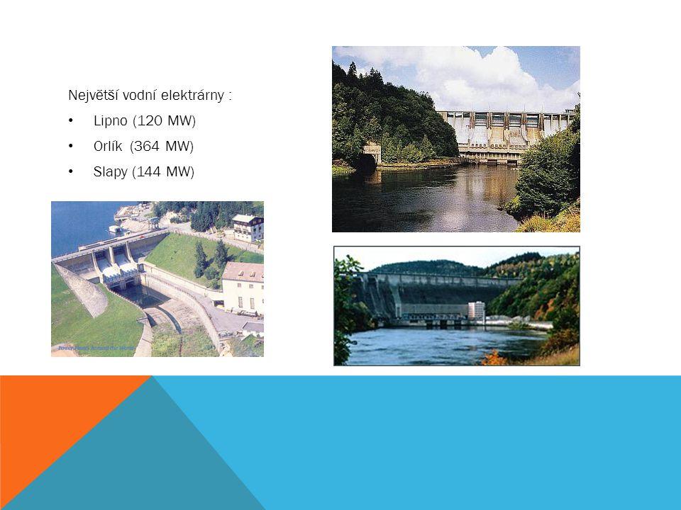 Největší vodní elektrárny :