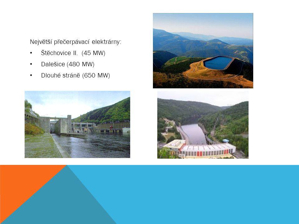 Největší přečerpávací elektrárny: