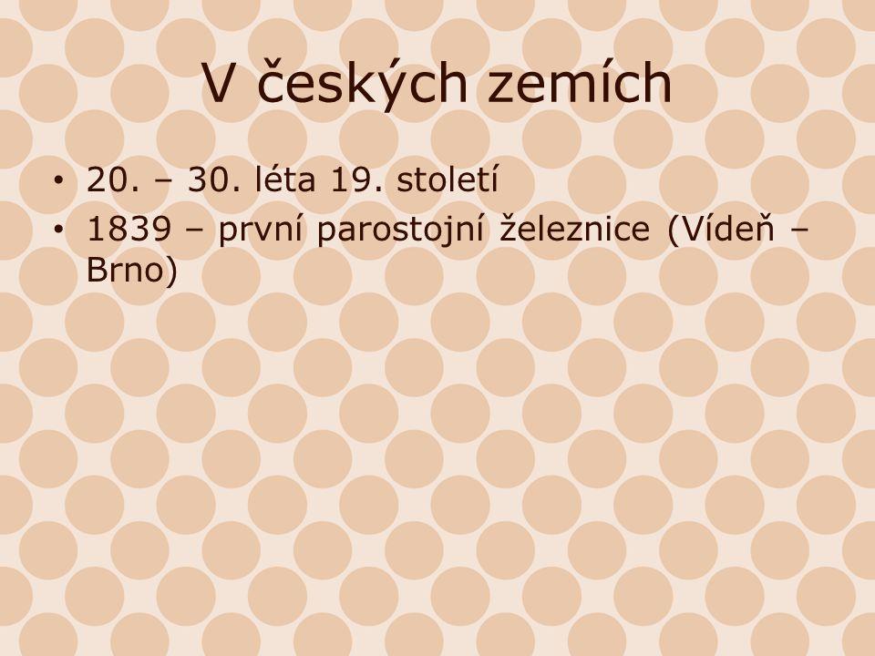 V českých zemích 20. – 30. léta 19. století