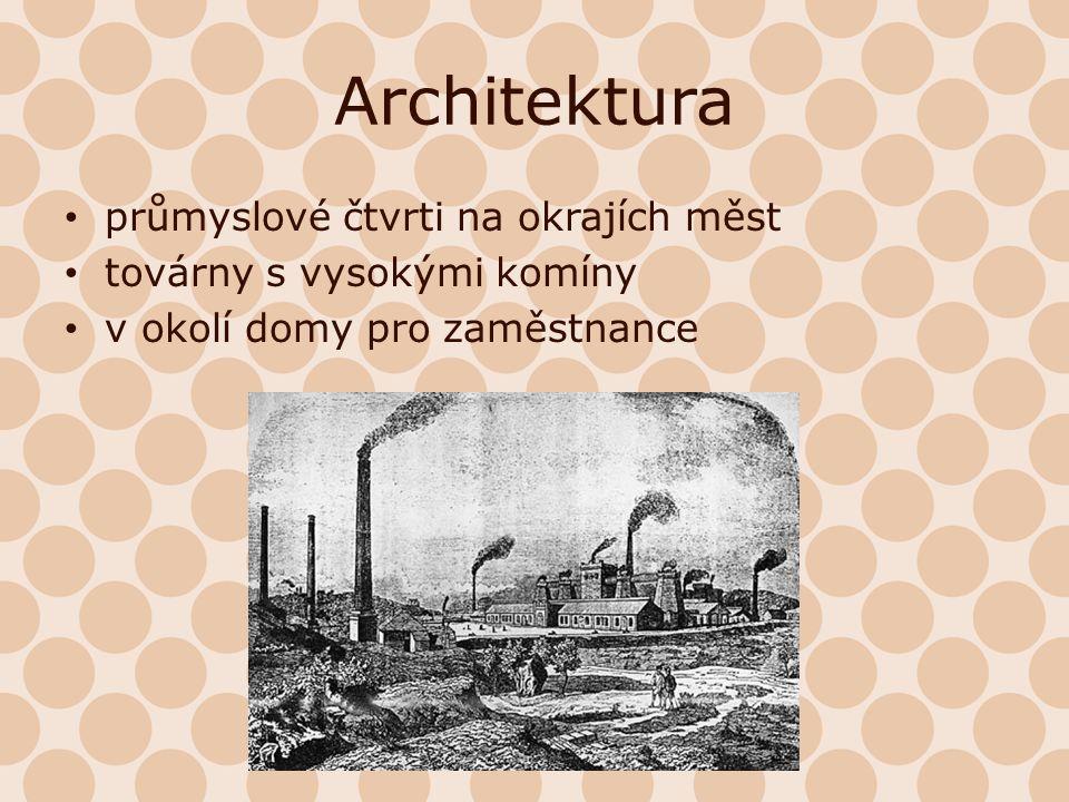 Architektura průmyslové čtvrti na okrajích měst