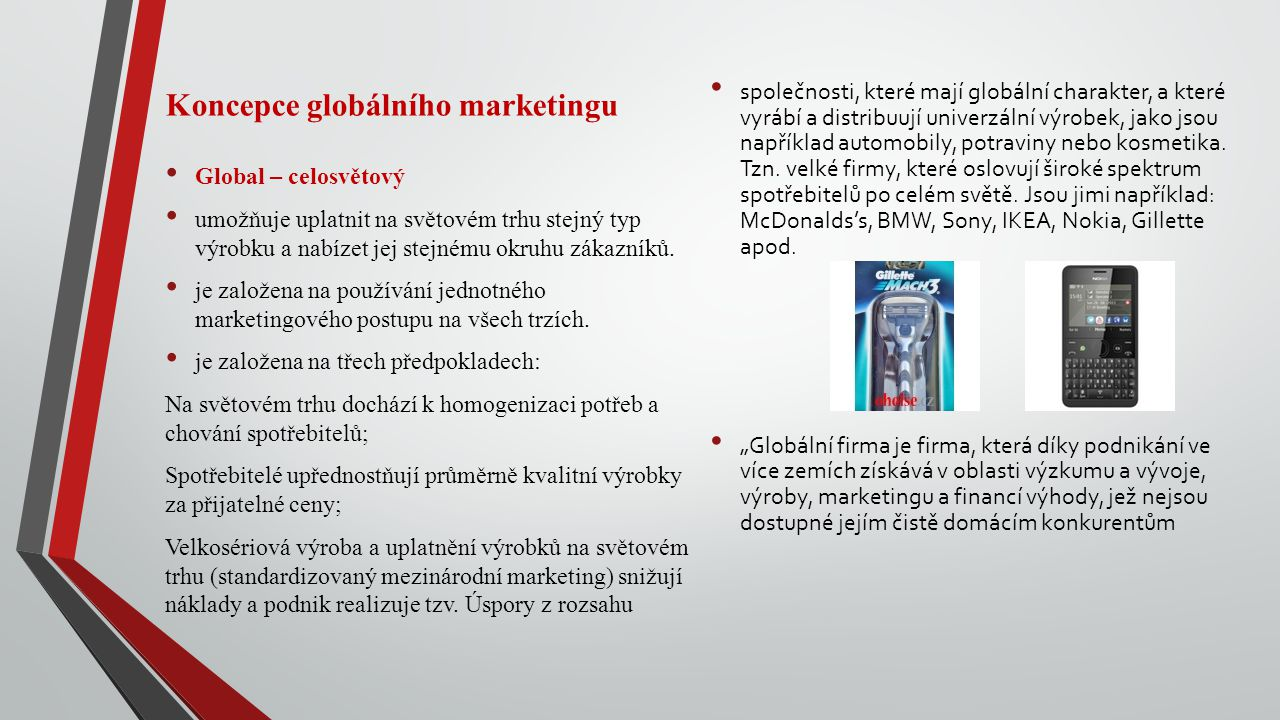 Koncepce globálního marketingu