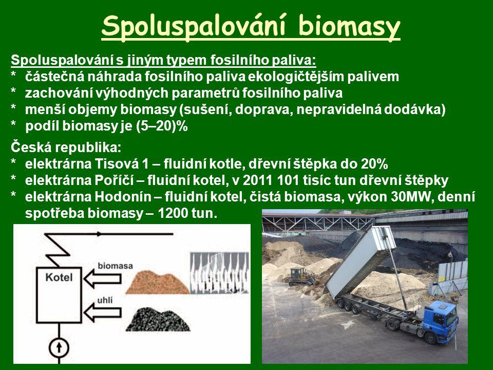 Spoluspalování biomasy