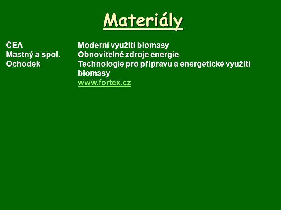 Materiály ČEA Moderní využití biomasy