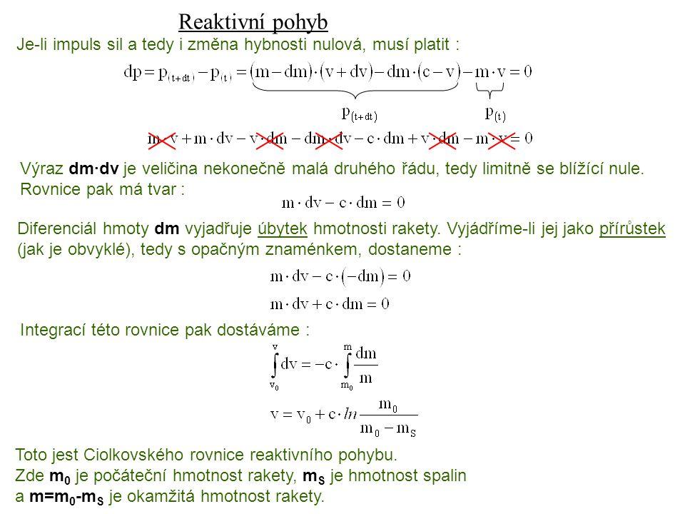 Reaktivní pohyb Dynamika I, 13. přednáška