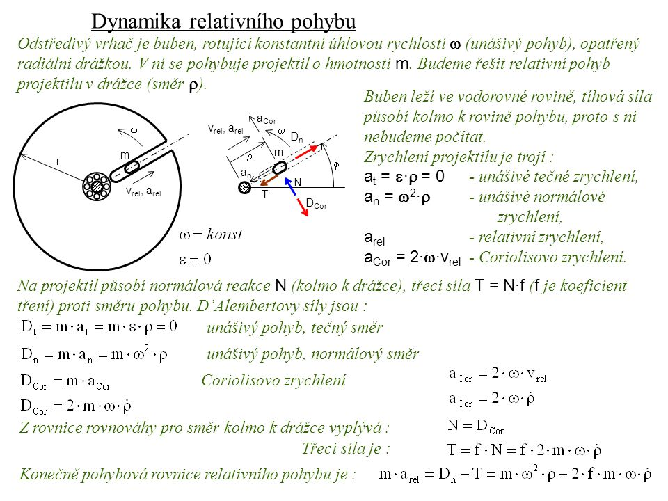 Dynamika relativního pohybu