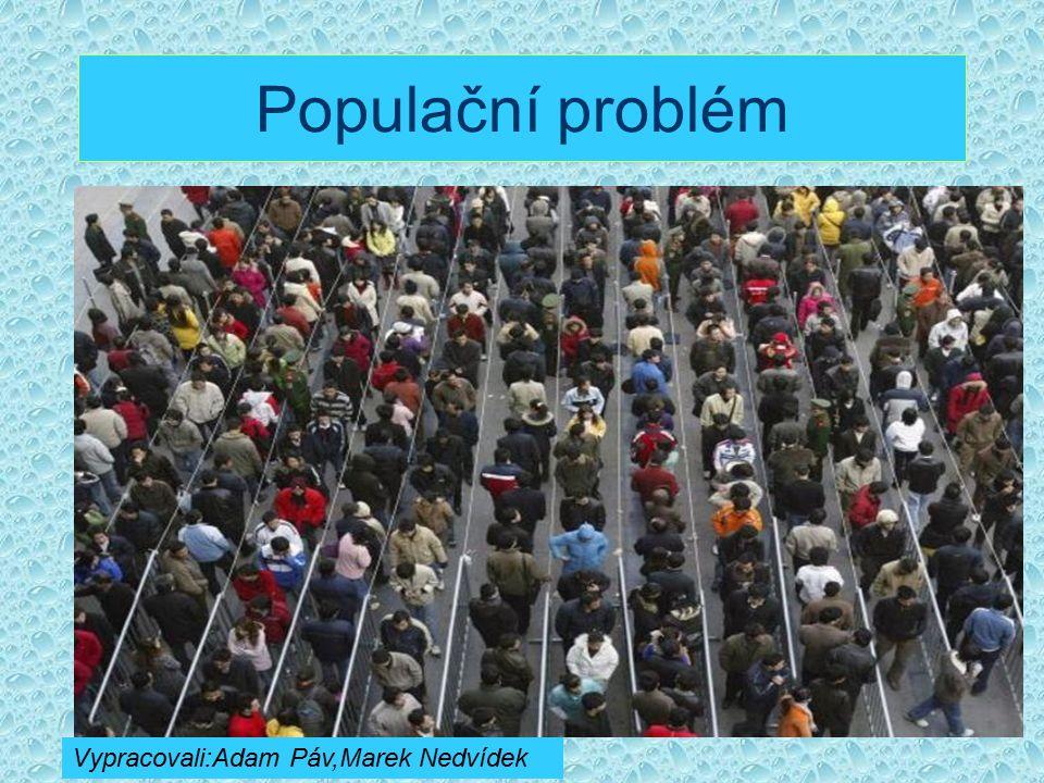 Populační problém Vypracovali:Adam Páv,Marek Nedvídek