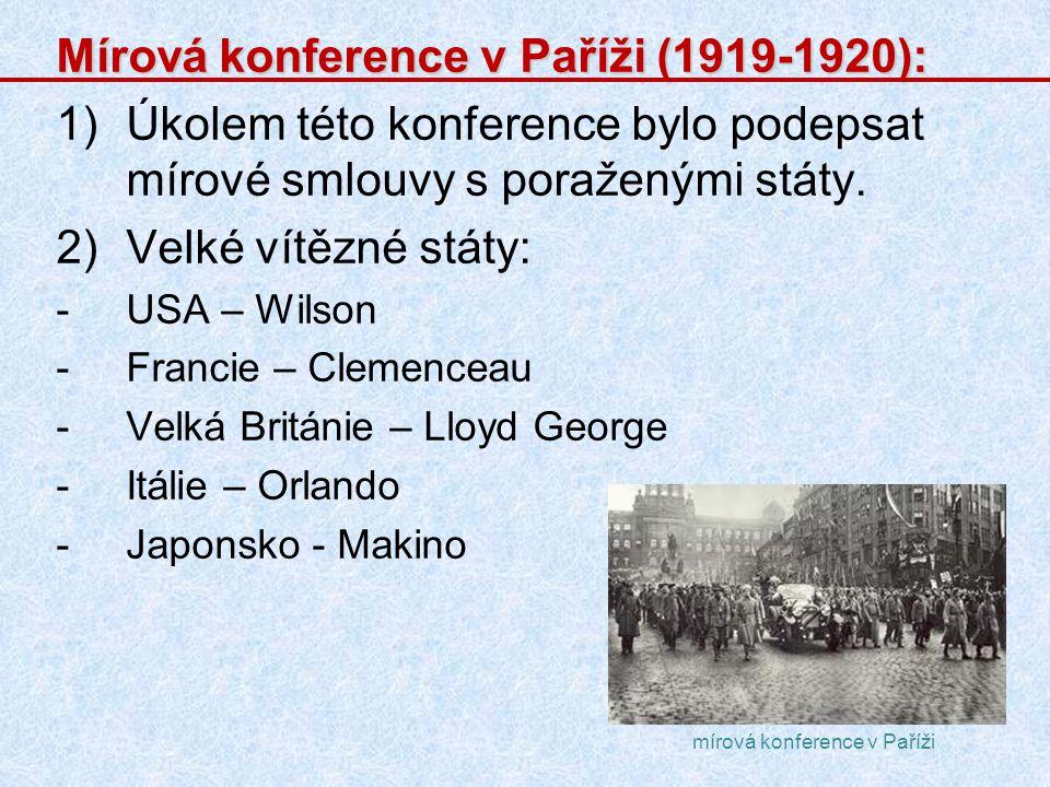 Mírová konference v Paříži (1919-1920):