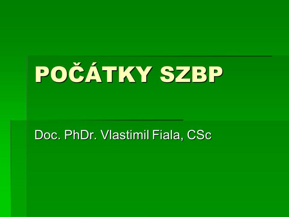 Doc. PhDr. Vlastimil Fiala, CSc