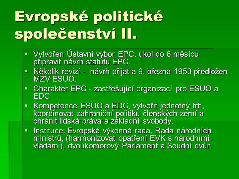 Evropské politické společenství II.