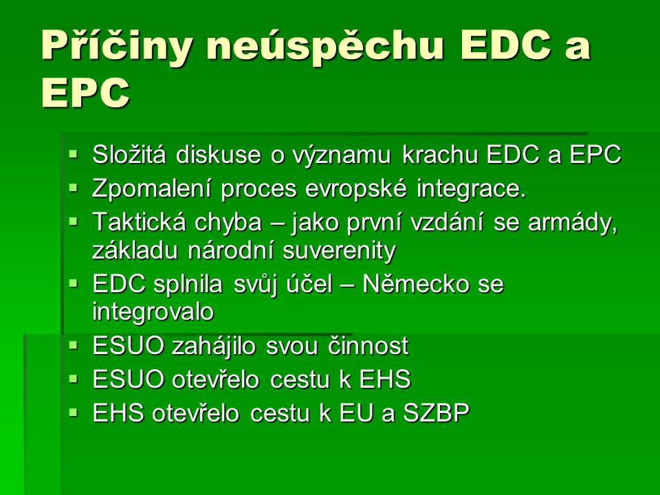 Příčiny neúspěchu EDC a EPC