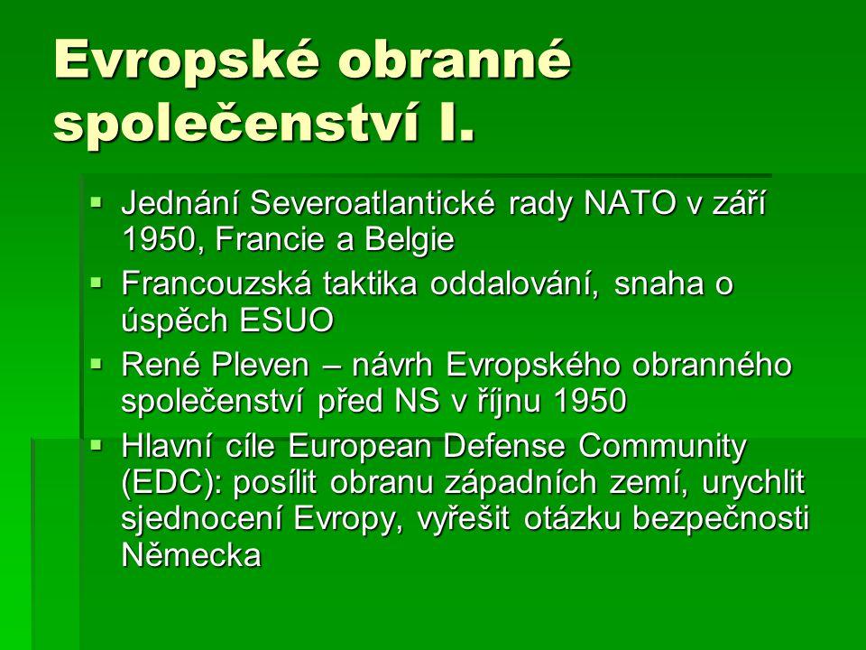 Evropské obranné společenství I.
