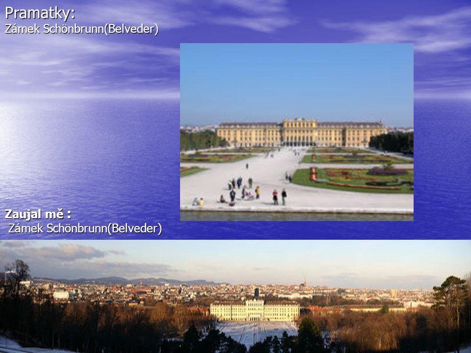 Pramatky: Zámek Schönbrunn(Belveder) Zaujal mě :