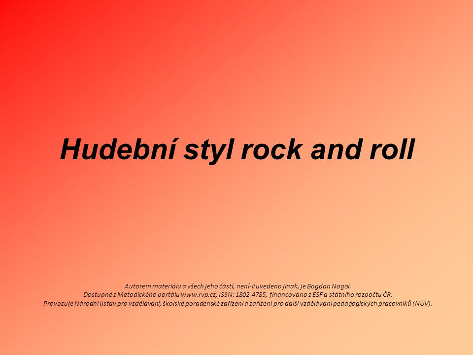 Hudební styl rock and roll