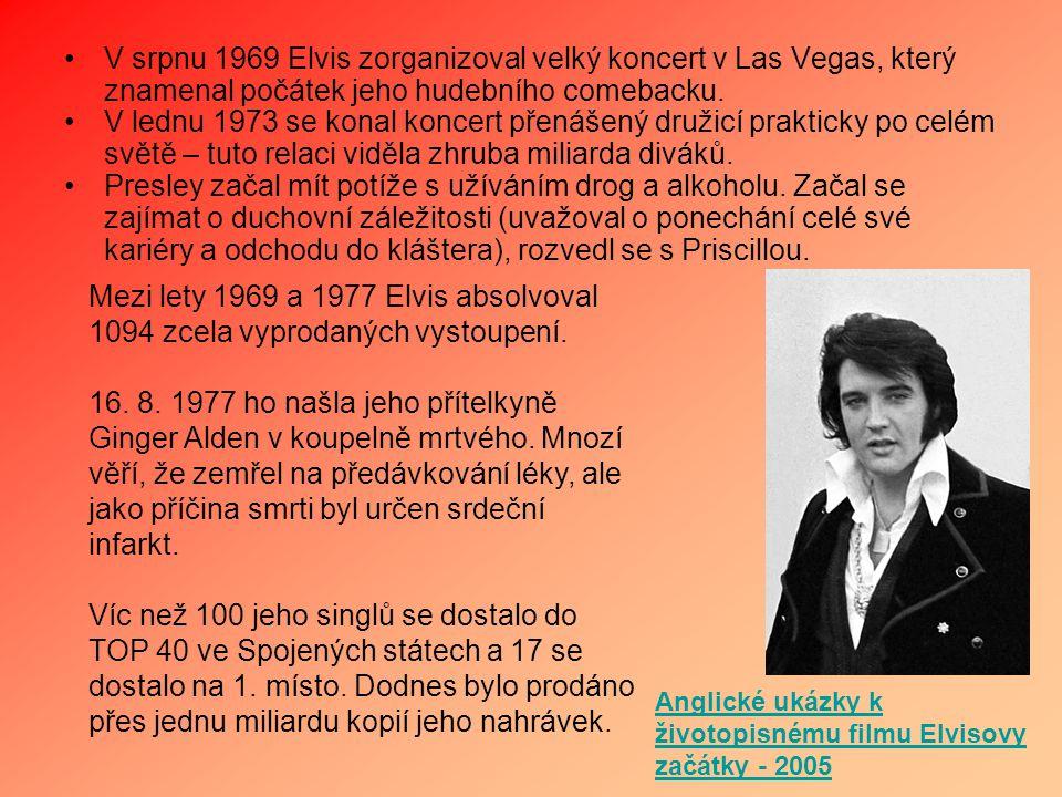 V srpnu 1969 Elvis zorganizoval velký koncert v Las Vegas, který znamenal počátek jeho hudebního comebacku.