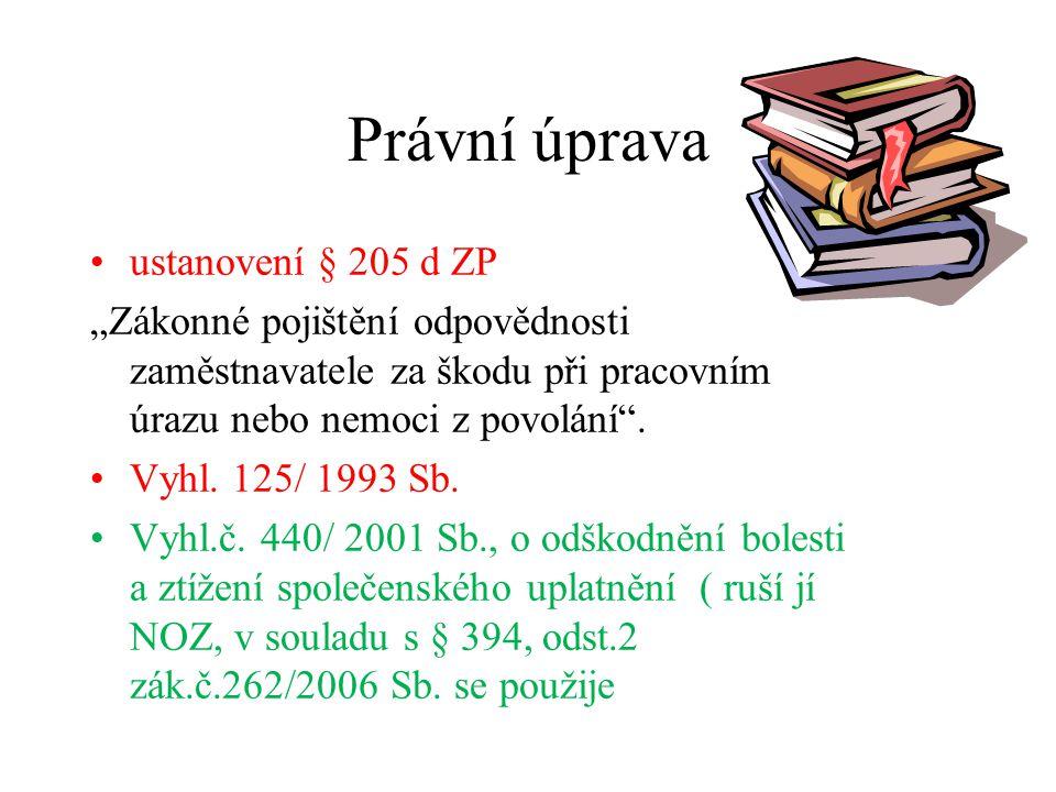 Právní úprava ustanovení § 205 d ZP