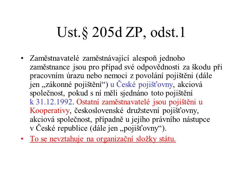 Ust.§ 205d ZP, odst.1