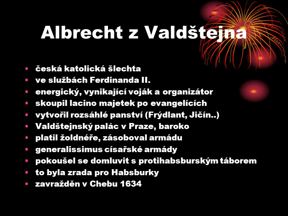 Albrecht z Valdštejna česká katolická šlechta