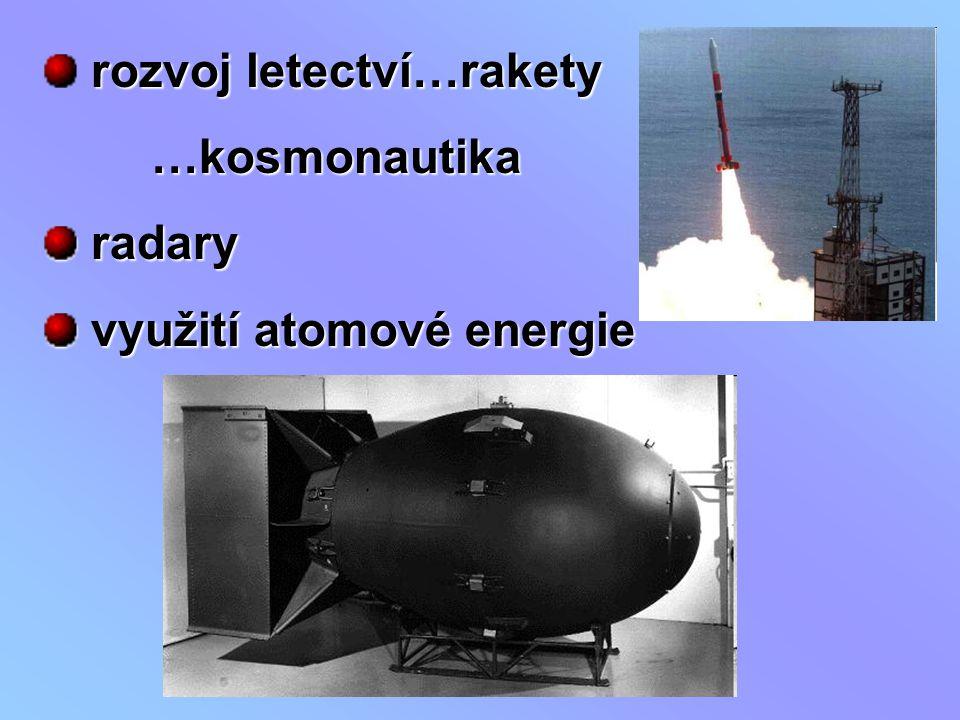 rozvoj letectví…rakety