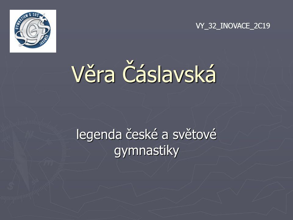legenda české a světové gymnastiky